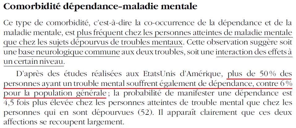 37 - Dépendance - Comorbidité avec maladies mentales