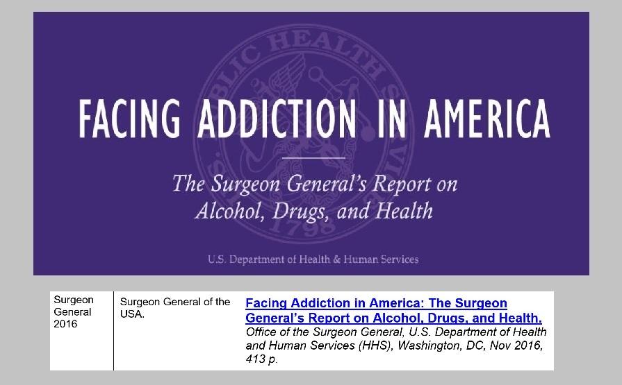 4 - 1 - US Surgeon General 2016 - Facing Addiction in America