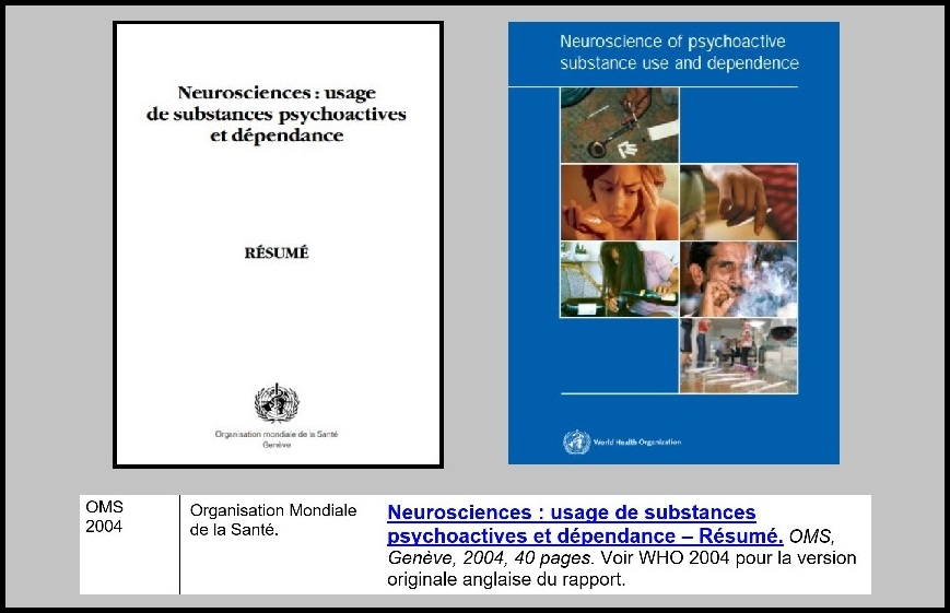 1 - oms 2004 - neurosciences - usage des substances psychoactives...
