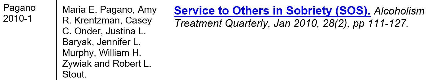 pagano 2010-1 outil éval. service aux autres